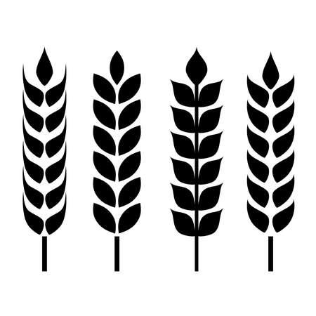 produits céréaliers: Blé oreille icône Illustration
