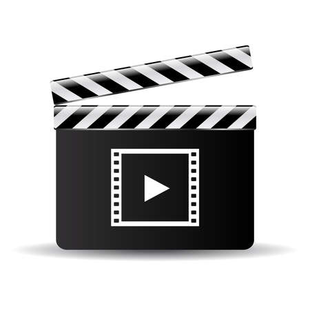 cinematografico: Clapper bordo de icono Vectores