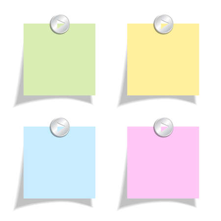 yellow note: Color note papers set