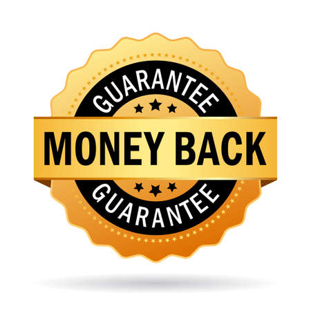 money back: Money back guarantee business seal Illustration