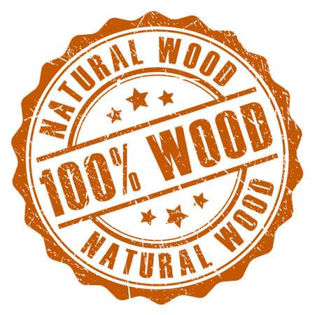 raw material: 100 natural wood stamp Illustration