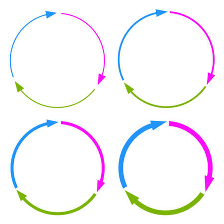 Three part arrow circles