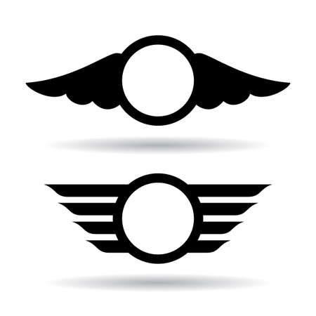 wings isolated: Wings symbols
