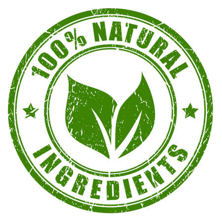 Natural ingredients stamp 免版税图像 - 35599815
