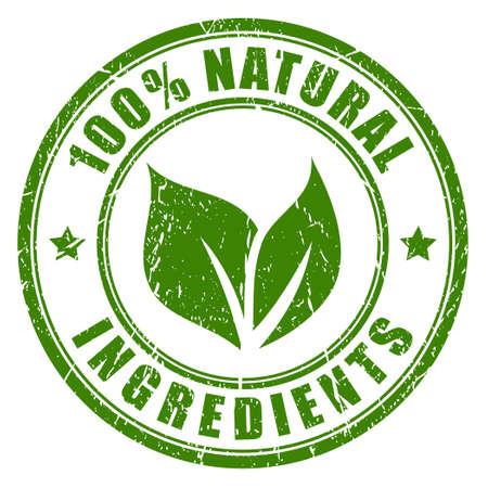 Natuurlijke ingrediënten stempel Vector Illustratie