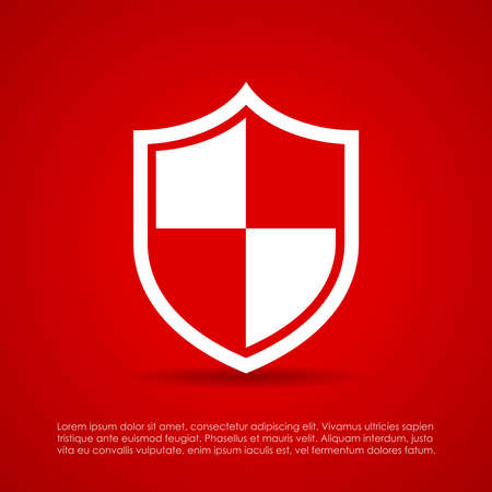 Protected shield icon Vector