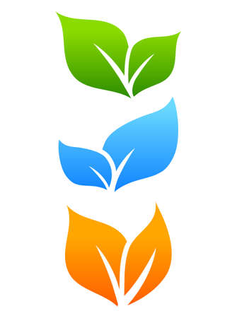 sprout growth: Growing leaves, natural icon