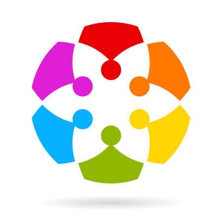 team spirit: Team abstract icon