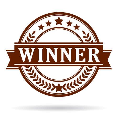 triunfador: Ganador del icono Vectores