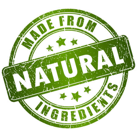 productos naturales: Hecho de sello ingredientes naturales