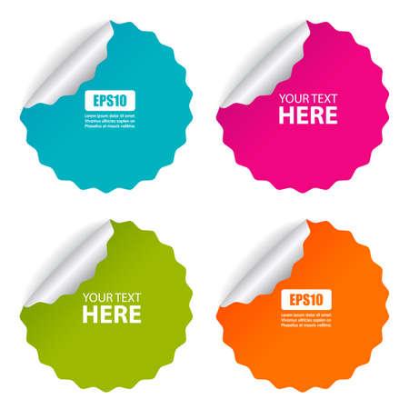 Stickers set Ilustrace