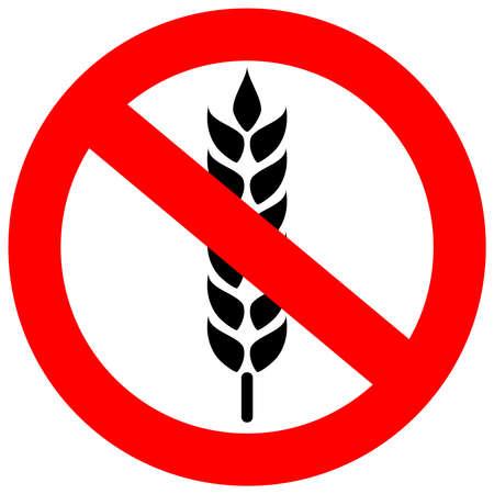 gluten: No gluten sign