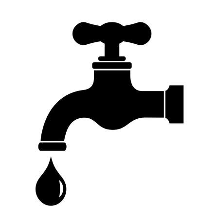 water droplets: Water tap icon Illustration