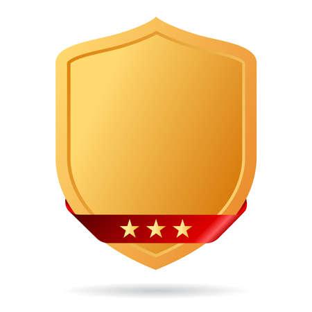 golden shield: Golden shield icon