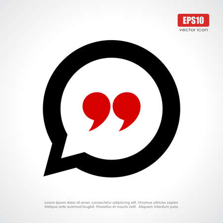 Quote icon Ilustrace