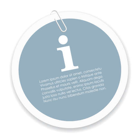 Info sticker 向量圖像