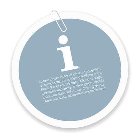 Info sticker Illustration