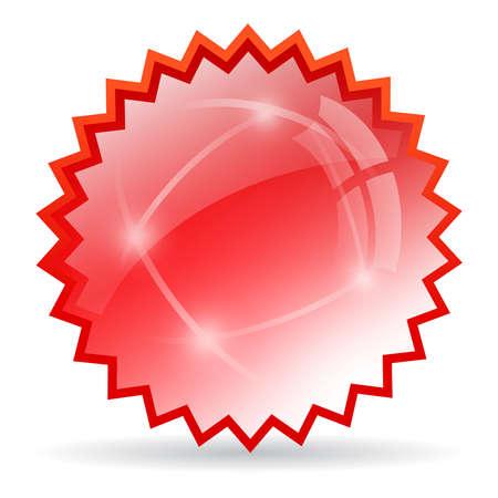 offer icon: Red bursting star Illustration