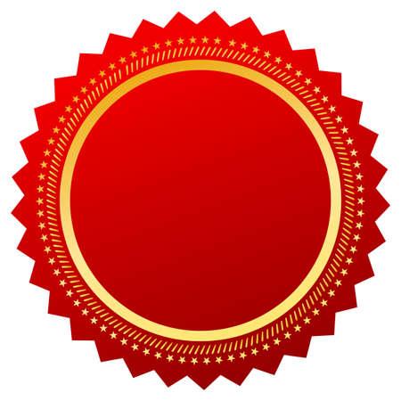 Red blank certificate Stock Vector - 36053863