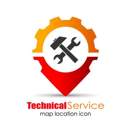 technical service: Service location marker