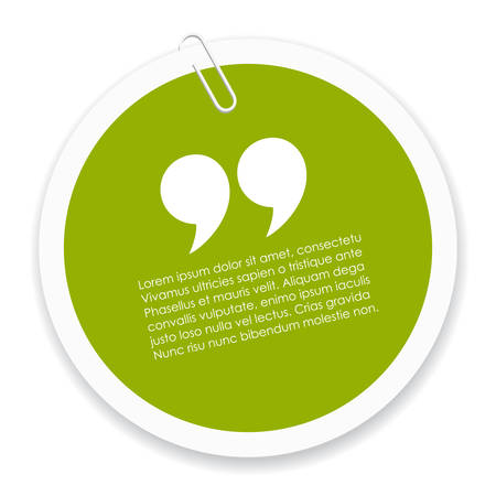 bubble icon: Quote icon Illustration