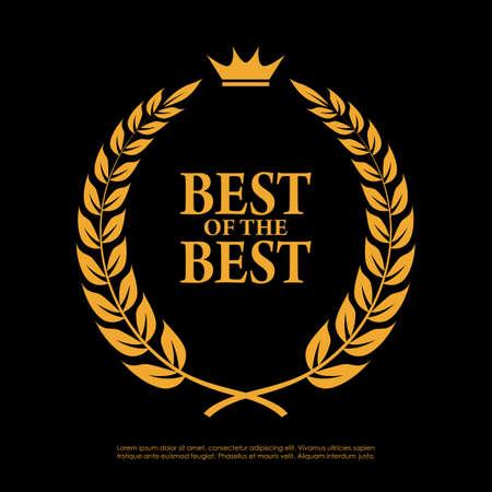Best of the best laurel symbol  イラスト・ベクター素材