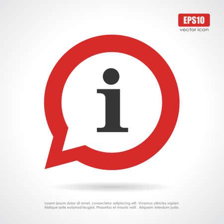Info sign  イラスト・ベクター素材