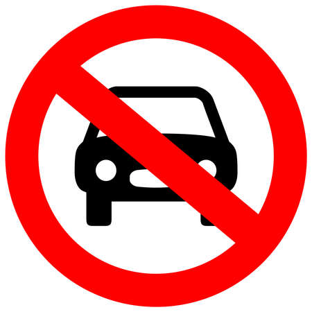 parking is prohibited: No car sign Illustration