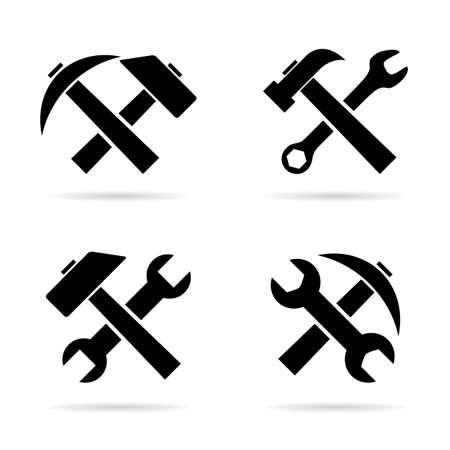 hammer: Tools icon Illustration