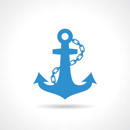 anchored: Anchor nautical icon Illustration