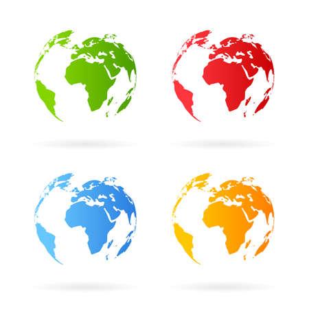 planeta verde: Icono de la tierra Vectores
