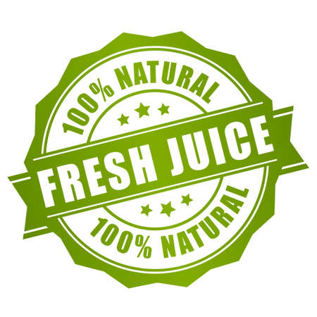 Natural fresh juice label Vector