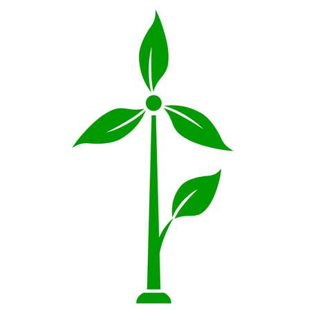 airscrew: Wind generator icon, green energy concept