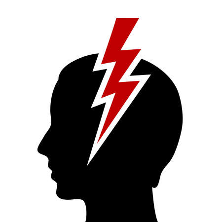 headache pain: Headache icon Illustration