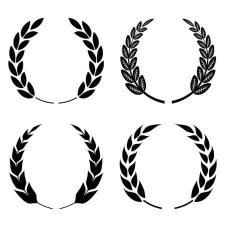 Laurel wreath icon Vettoriali