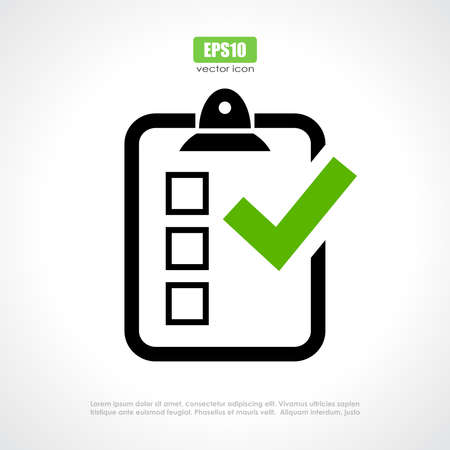 quiz test: Survey vector icon