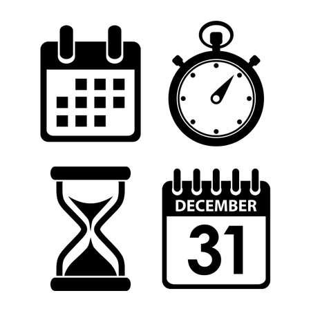 dattes: Temps ic�ne de l'horloge Illustration