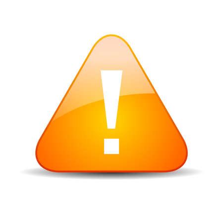 virus alert: Exclamation warning sign