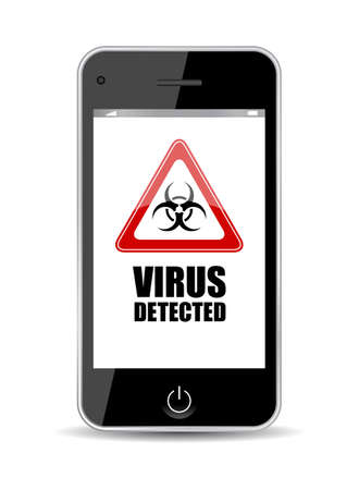spyware: Mobile phone virus icon