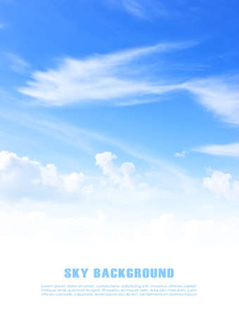 the sky with clouds: Fondo del cielo azul con copyspace Foto de archivo