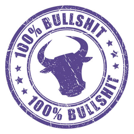 stamp: Bullshit stamp Illustration