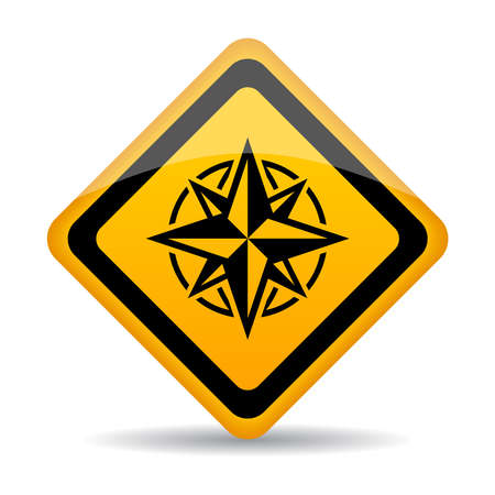 Compass sign Vector