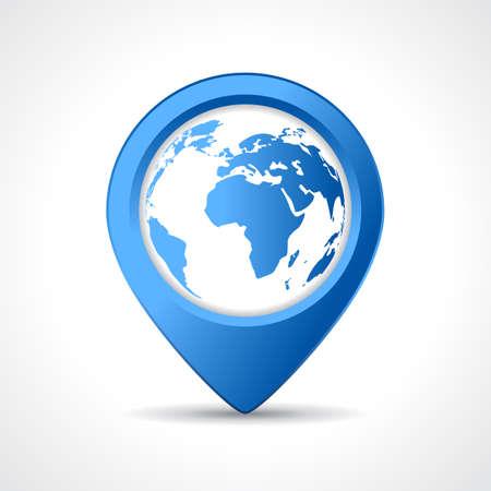 Geo の地図のピン  イラスト・ベクター素材