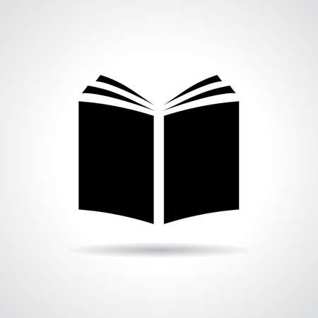 an open book: Libro icono Vectores