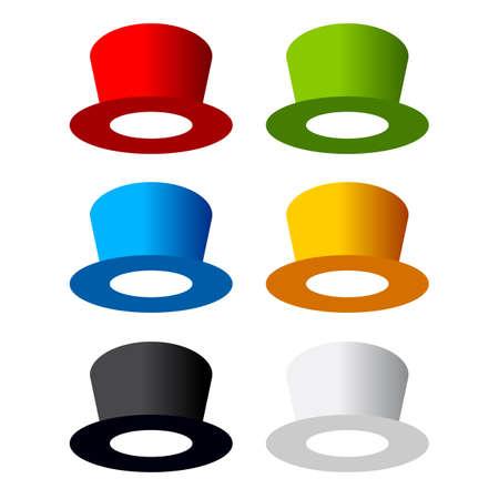 kapelusze: Sześć kolorowych kapeluszy