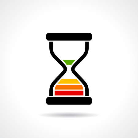out time: Timer icon Illustration