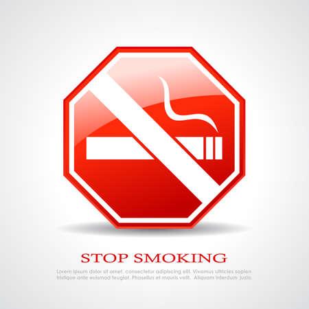 tachado: Deje de fumar signo