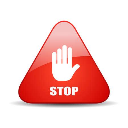 Stop vector sign Vector