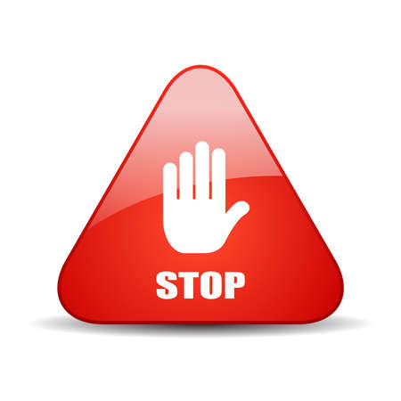 vector  sign: Stop vector sign Illustration