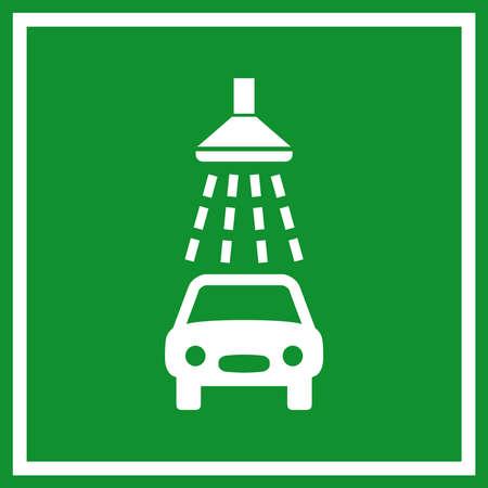 Car wash sign Vector